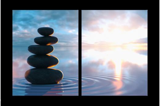 Модульная картина Баланс на воде